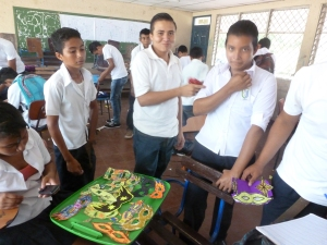 Mask making in Teodoro S.Kint secondary school